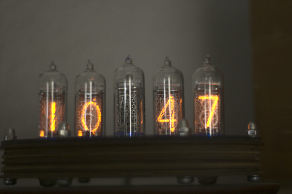 I built this Nixie Tube Clock in 2014. It's a great conversation piece, keeps time okay, and lets the mind wonder to watch the numbers cycle through.