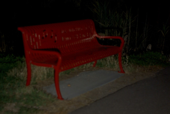 The Red Park Bench